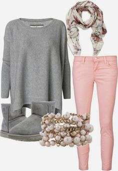 Love pink and grey.