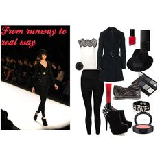 """""""from runway to real way 01- black set"""" by chanett11 on Polyvore"""