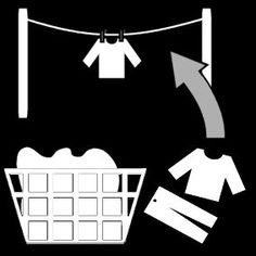 Pictogram: hang out wash