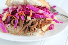 Week of 3/10 ~ Shredded Beef Sandwiches with Red Cabbage and Apple Slaw #mealplan