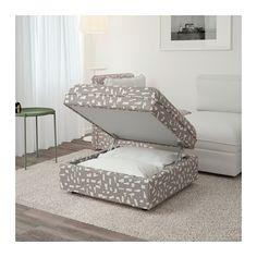 VALLENTUNA Storage seat section - Funnarp black/beige - IKEA