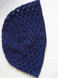Skull Cap Cotton kufi  Mens short beanie crochet от NatalyZigZag