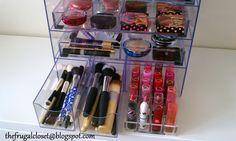 The Frugal Closet: Alternative Acrylic Clear Cube Makeup Organizer