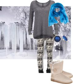 cute! love the blue with the gray for winter/
