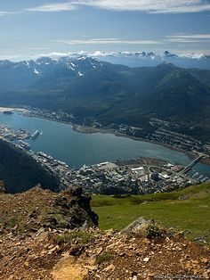 Skagway from the air.