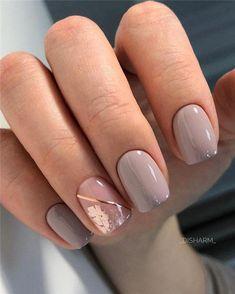Latest and Hottest Matte Nail Art Designs Ideas - Rezepte - Naildesign - nagelpflege Easy Nails, Simple Nails, Fun Nails, Pretty Nails, Nail Art Designs, Short Nail Designs, Acrylic Nail Designs, Nails Design, Neutral Nail Designs