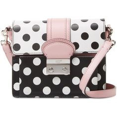 RED Valentino Women's Polka Dot Leather Shoulder Bag ($459) ❤ liked on Polyvore featuring bags, handbags, shoulder bags, multi, polka dot purse, shoulder handbags, leather purses, strap purse and polka dot handbags