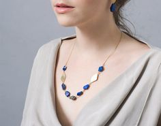 SALE 50% OFF Blue Lapis Necklace , Lapis Statement Necklace