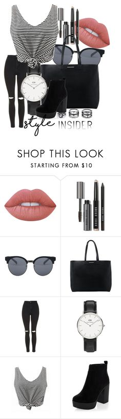 Style insider by penguinx14 on Polyvore featuring Mode, Topshop, New Look, MANGO, Daniel Wellington, LULUS, Quay, Lime Crime, Bobbi Brown Cosmetics and contestentry