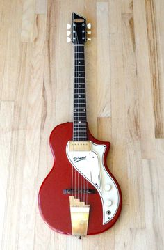 1957 Supro Belmont Vintage Valco USA Electric Guitar Red National Rhythm Tone | eBay