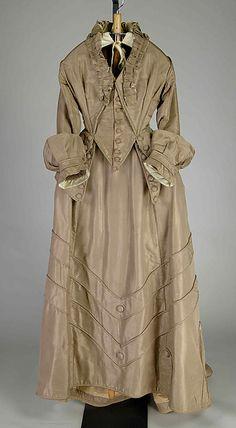 Wedding Dress Date: ca. 1875 Culture: American Medium: Silk Accession Number: 2009.300.6510a, b