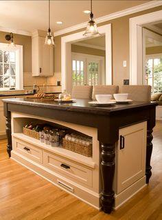 kitchen island-love the storage