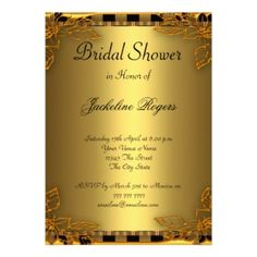 Shop Bridal Shower Party Gold and Gold Frame Invitation created by invitesnow. Discount Wedding Invitations, Save The Date Invitations, Custom Wedding Invitations, Bridal Shower Invitations, Teal Bridal Showers, Bridal Shower Party, Rsvp, Frame, Gold