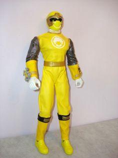 "Power Rangers Ninja Storm 12"" inch Yellow Wind Talking Ninja Ranger Complete | eBay"