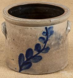 New York stoneware crock, 19th c. - Price Estimate: $100 - $150