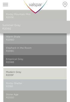 Exterior paint colora for house with shutters light blue 45 Ideas Lowes Paint Colors, Kitchen Paint Colors, Bedroom Paint Colors, Paint Colors For Home, Living Room Colors, My Living Room, Wall Colors, Colours, Valspar Gray Paint