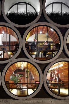 "Take a look at renewed Prahan Hotel in Melbourne, Australia. Techné Architects made a design y adding an extension that uses oversized concrete pipes. ""The Prahan Hotel is Architecture Design, Beautiful Architecture, Melbourne Architecture, Hotel Architecture, Australian Architecture, Installation Architecture, Landscape Architecture, Landscape Design, Architecture Colleges"
