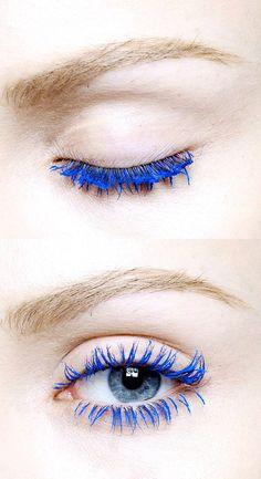 #blue Cils néons