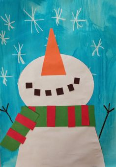 Love, Laughter and Learning in Prep: Cheap & … Snowman art – catching snowflakes! Love, Laughter and Learning in Prep: Cheap & Cheerful Christmas Crafts! Kindergarten Christmas Crafts, Kindergarten Art, Classroom Crafts, Christmas Crafts For Kids, Christmas Art, Preschool Crafts, Holiday Crafts, Classe D'art, January Crafts