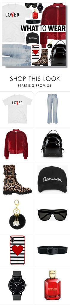 """""""What to wear"""" by alexa-girl2 ❤ liked on Polyvore featuring AG Adriano Goldschmied, Dolce&Gabbana, Kendall + Kylie, FAUSTO PUGLISI, Kate Spade, Y-3 and Michael Kors"""