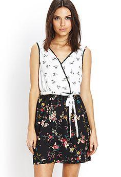 Hummingbird Surplice Dress - Dresses - 2000071998 - Forever 21 EU