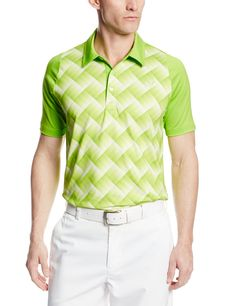 Made from 92% Polyester and 8% Spandex this mens NA DS graphic tech golf polo shirt by Puma is engineered to provide a greater freedom of movement in your swing