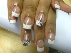french tip w/ abstract design - Nail Art Gallery by NAILS Magazine