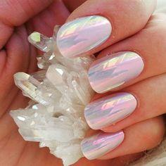 unicorn nails using irredesant nail polish. Love it