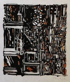 Vieira da Silva lithographie signée mosaïque Cadeau art Alcohol Ink Painting, Fine Art Gallery, Winter Holidays, Home Decor Items, Decoration, Abstract Art, Creations, Vintage Items, Wall Art