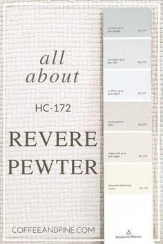 A Focus On Revere Pewter paint color, benjamin moore, revere pewter, paint color scheme Neutral Paint Colors, Paint Color Schemes, Room Paint Colors, Paint Colors For Home, House Colors, Wall Colors, Hgtv Paint Colors, Revere Pewter Benjamin Moore, Benjamin Moore Paint