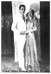 Late 1930's fashion - real people -  Arthur and Helen - Wedding Day 1937