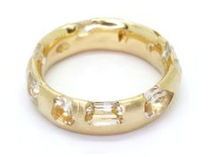 Medium Mixed Cut White Sapphire Crystal Ring, 18k Gold - Polly Wales -