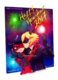 Feliz Ano Novo!!! Happy New year!! ❤️❤️❤️Miraculous Ladybug❤️❤️❤️