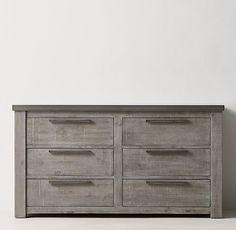 """Vaughn Wide Dresser -Aged Grey - 60""""w * 32""""H"""