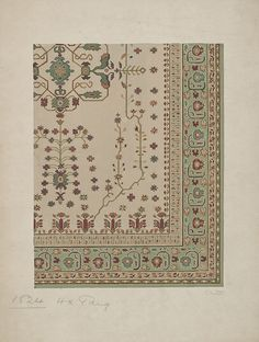Stoddard-Templeton Design: Assorted Persian Border Squares (STOD/DES/110/27)