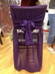 purple chair linen