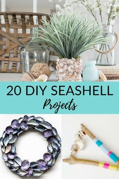 Do you spend your summer beach vacation collecting seashells and looking for sea glass? Here are some great ideas on what to do with all those collected shells. All you need is a seashell or sand dollar, a hot glue gun, and your imagination. Easy Crafts For Kids, Creative Crafts, Crafts To Make, Diy Crafts, Decor Crafts, Kids Diy, Shell Crafts Kids, Crafts Toddlers, Seashell Art