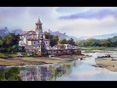 acuarela facil 62 Niembro Llanes Pintando con Juan Mieres - YouTube