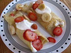 Strawberry and Banana Stuffed Crepes