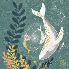 Cover Design, Whale Illustration, White Whale, Whale Art, Watercolor Sketch, Magical Creatures, Beautiful Artwork, Bunt, Art Inspo