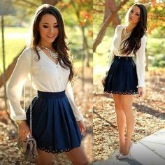 V-neck Long Sleeves Patchwork Sweat Short Dress - Oh Yours Fashion - 1