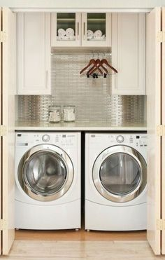 Deep Closet Laundry Room