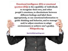 Do you have Emotional Intelligence? A must acquire skill if you want to deal with job stress AND raise your Executive Presence via @karmically