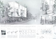 No.960 松田勇輝 太田翔(京都工芸繊維大学大学院) Architecture Board, Architecture Drawings, Architecture Portfolio, Portfolio Presentation, Project Presentation, Location Analysis, Type Setting, Illustrations And Posters, Designs To Draw