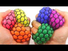 DIY Change Colors Squishy Stress Ball How To Make 'Slime Balloons Ball' Learn Colors Slime Icecream - YouTube