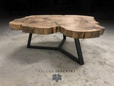 Shown in Live edge Elm cross cut slab on a union base. Diy Wood Projects base Cross Cut Edge Elm Live LiveEdgeWoodProjects shown Slab Union Wood Slab Table, Wooden Tables, Live Edge Wood, Live Edge Table, Log Furniture, Furniture Design, Made Coffee Table, Natural Wood Coffee Table, Rustic Coffee Tables