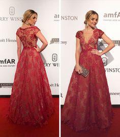 Layla Monteiro vestido Patricia Bonaldi longo bordado decote Amfar 2017 red carpet