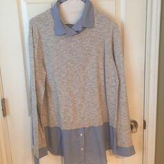 Ann Taylor Loft Sweater/Shirt Wonderful Ann Taylor Loft Sweater/Shirt for work or play! Size XL Ann Taylor Tops Blouses
