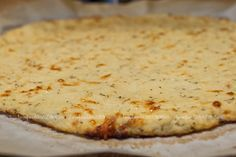 Cauliflower Pizza Crust Recipe {NO FLOUR!} 21 DAY FIX