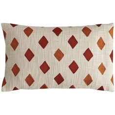 Malton Embroidered Diamond Pillow   Pier 1 Imports